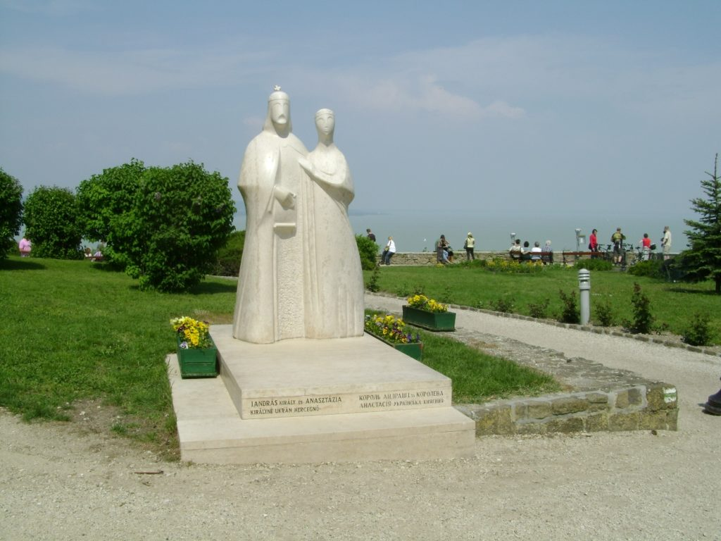 Памятник нашей землячке, жене венгерского князя, Анастасии, на Тихани