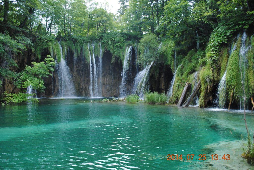 Один из красивейших водопадов Плитвицы