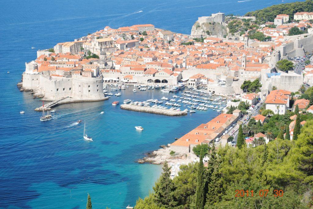 Вид на Дубровник со смотровой площадки