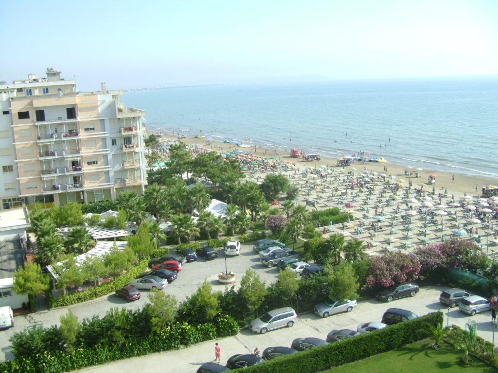 Вид на море с балкона отеля
