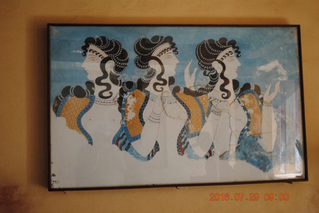 Так выглядели минойские женщины. Фреска Кносского дворца